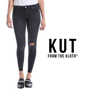 KUT FROM THE KLOTH | Distressed Black Skinny Jeans